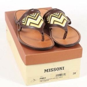 NWT Missoni Stampato Zig Zag Italian Sandals